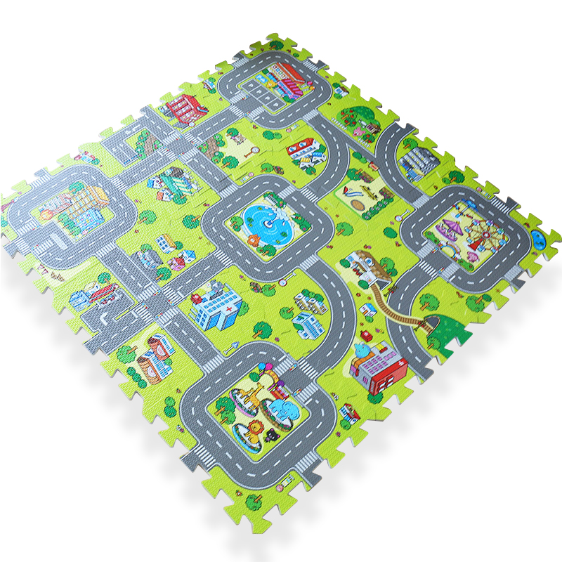 Foam Vehicle Puzzle Mat Happy Blocks And Toys
