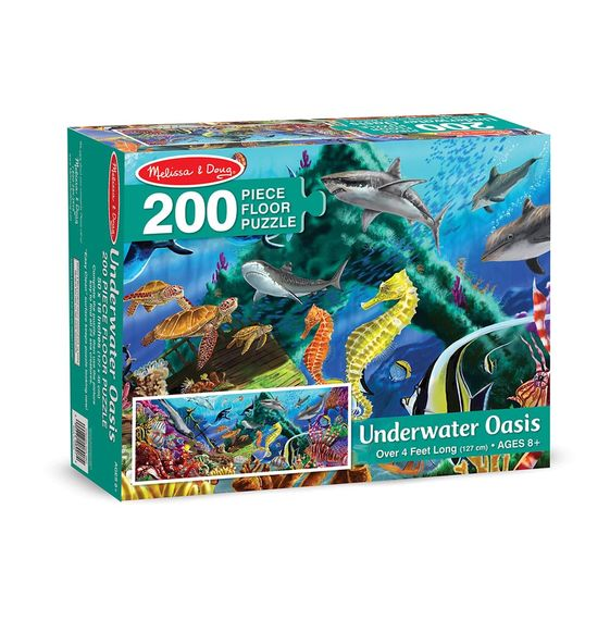 8907 200 piece floor puzzle underwater oasis 100 for 100 piece floor puzzles
