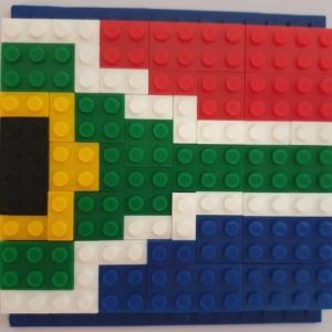 SA Flag Blocks + Small Baseplate Combo