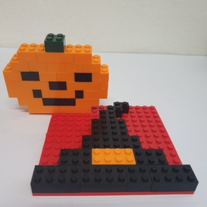 Pumpkin and Witch's Hat Halloween Combo